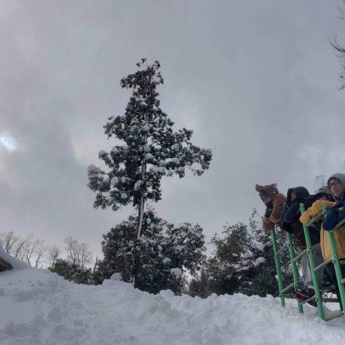雪の中でマウンテンバイクチャレンジ!